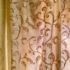 2 HORCHOW  drape panels